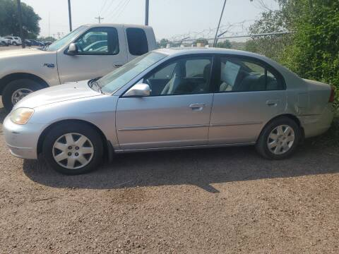 2002 Honda Civic for sale at PYRAMID MOTORS - Fountain Lot in Fountain CO