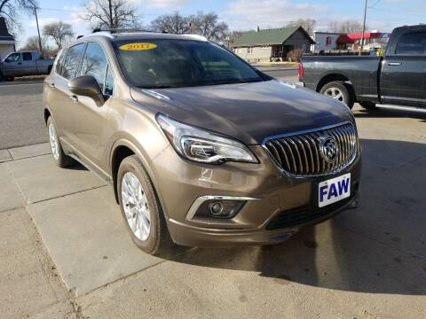 2017 Buick Envision for sale at Faw Motor Co - Faws Garage Inc. in Arapahoe NE