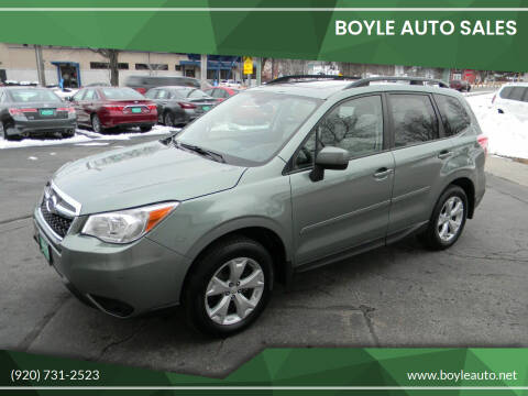 2016 Subaru Forester for sale at Boyle Auto Sales in Appleton WI