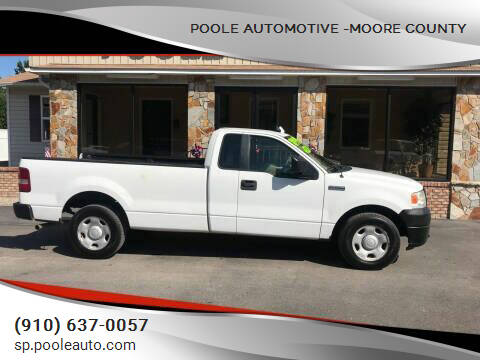 2008 Ford F-150 for sale at Poole Automotive -Moore County in Aberdeen NC