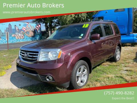 2013 Honda Pilot for sale at Premier Auto Brokers in Virginia Beach VA