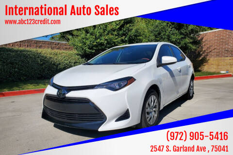 2017 Toyota Corolla for sale at International Auto Sales in Garland TX