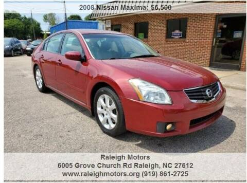 2008 Nissan Maxima for sale at Raleigh Motors in Raleigh NC