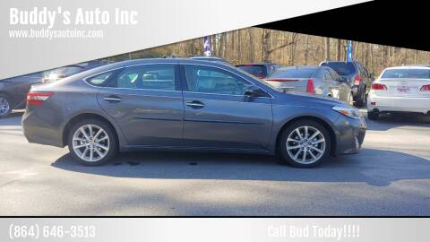 2015 Toyota Avalon for sale at Buddy's Auto Inc in Pendleton SC