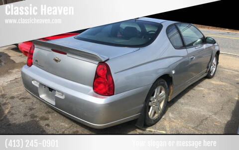 2007 Chevrolet Monte Carlo for sale at Classic Heaven Used Cars & Service in Brimfield MA