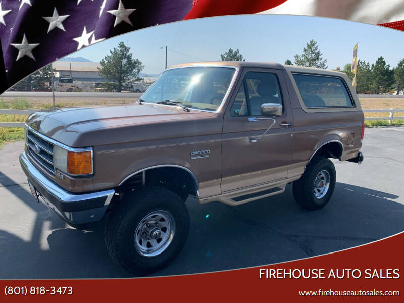1990 Ford Bronco for sale at Firehouse Auto Sales in Springville UT