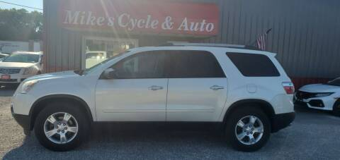 2012 GMC Acadia for sale at MIKE'S CYCLE & AUTO in Connersville IN