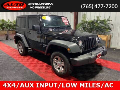 2017 Jeep Wrangler for sale at Auto Express in Lafayette IN