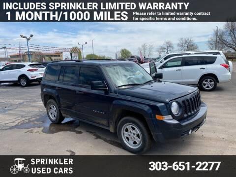 2014 Jeep Patriot for sale at Sprinkler Used Cars in Longmont CO