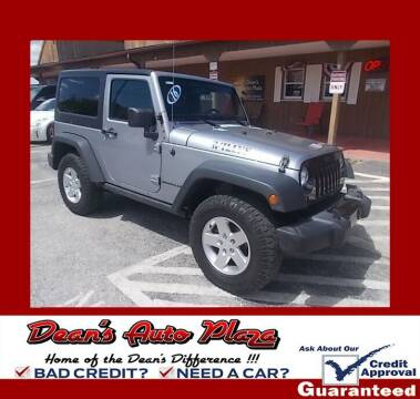2016 Jeep Wrangler for sale at Dean's Auto Plaza in Hanover PA
