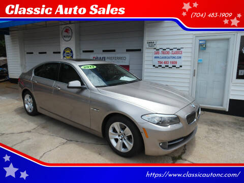 2013 BMW 5 Series for sale at Classic Auto Sales in Maiden NC