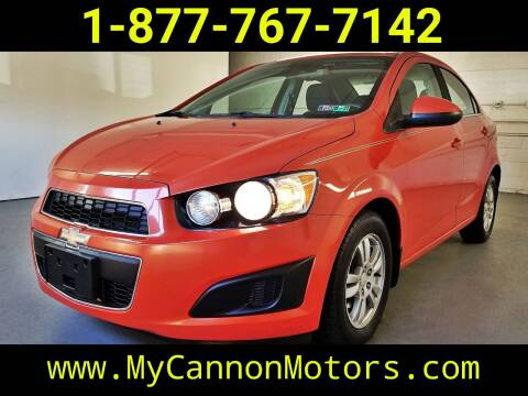 2013 Chevrolet Sonic for sale at Cannon Motors in Silverdale PA