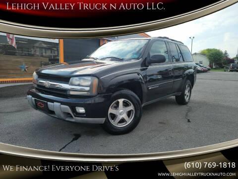 2003 Chevrolet TrailBlazer for sale at Lehigh Valley Truck n Auto LLC. in Schnecksville PA