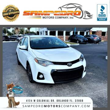 2014 Toyota Corolla for sale at SAMPEDRO MOTORS COMPANY INC in Orlando FL