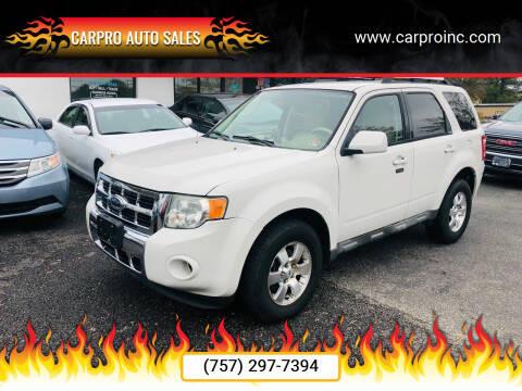 2009 Ford Escape for sale at Carpro Auto Sales in Chesapeake VA