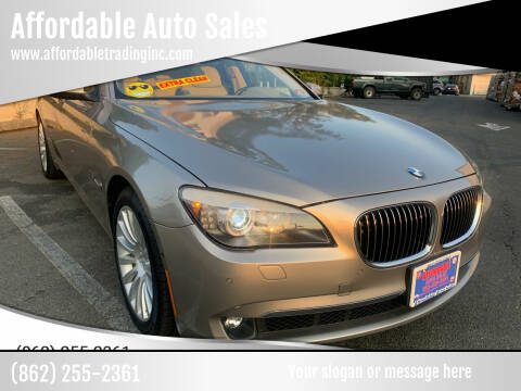 2012 BMW 7 Series for sale at Affordable Auto Sales in Irvington NJ