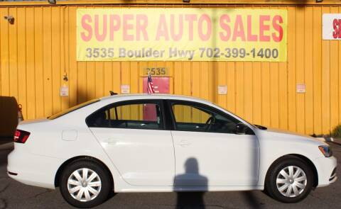 2016 Volkswagen Jetta for sale at Super Auto Sales in Las Vegas NV