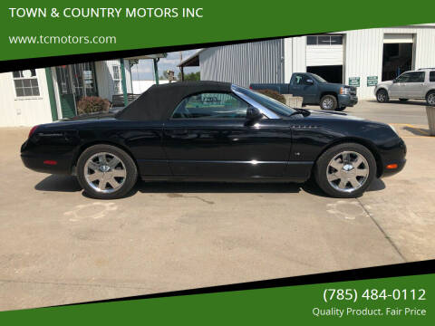 2003 Ford Thunderbird for sale at TOWN & COUNTRY MOTORS INC in Meriden KS