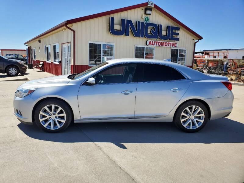 "2015 Chevrolet Malibu for sale at UNIQUE AUTOMOTIVE ""BE UNIQUE"" in Garden City KS"