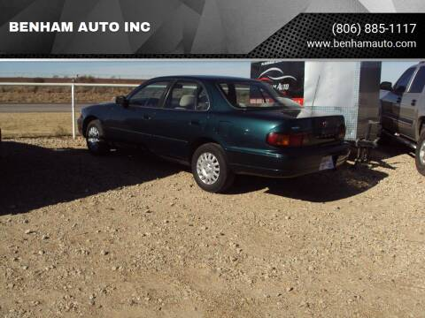 1996 Toyota Camry for sale at BENHAM AUTO INC in Lubbock TX