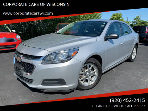 2014 Chevrolet Malibu for sale at CORPORATE CARS OF WISCONSIN in Sheboygan WI