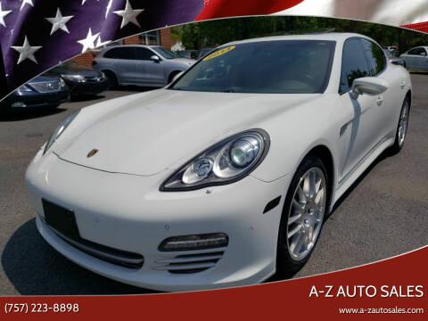 2013 Porsche Panamera for sale at A-Z Auto Sales in Newport News VA