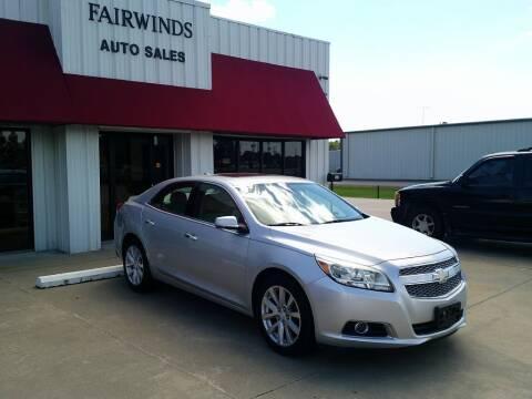 2013 Chevrolet Malibu for sale at Fairwinds Auto Sales in Dewitt AR