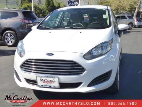2016 Ford Fiesta for sale at McCarthy Wholesale in San Luis Obispo CA