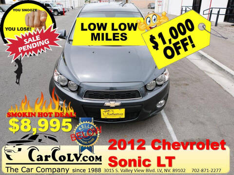 2012 Chevrolet Sonic for sale at The Car Company in Las Vegas NV