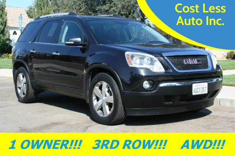 2012 GMC Acadia for sale at Cost Less Auto Inc. in Rocklin CA