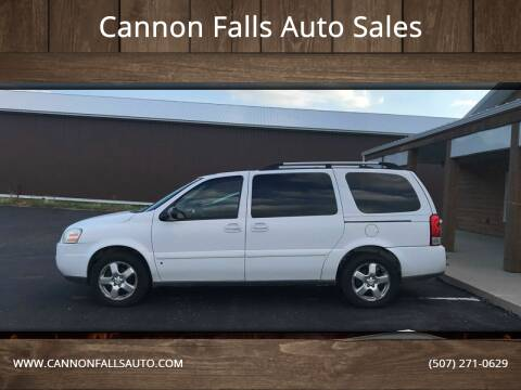 2007 Chevrolet Uplander for sale at Cannon Falls Auto Sales in Cannon Falls MN