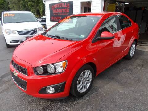 2015 Chevrolet Sonic for sale at Dansville Radiator in Dansville NY