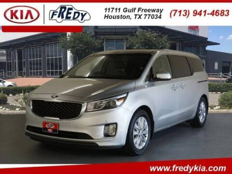 2017 Kia Sedona for sale at FREDYS CARS FOR LESS in Houston TX