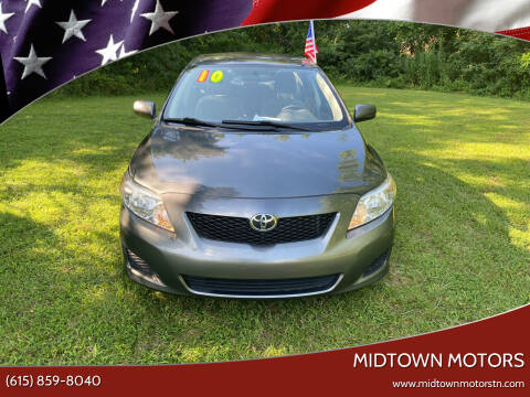 2010 Toyota Corolla for sale at Midtown Motors in Greenbrier TN