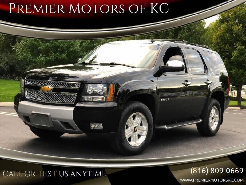 2013 Chevrolet Tahoe for sale at Premier Motors of KC in Kansas City MO