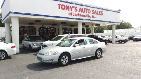 2013 Chevrolet Impala for sale at Tony's Auto Sales in Jacksonville FL