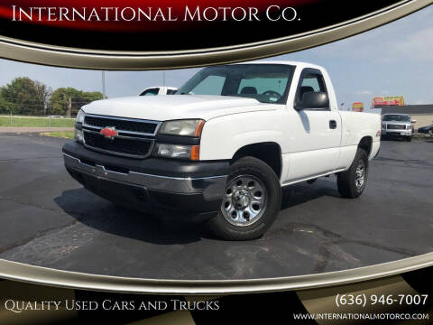 2007 Chevrolet Silverado 1500 Classic for sale at International Motor Co. in St. Charles MO