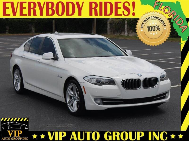 2012 BMW 5 Series for sale at VIP Auto Group in Clearwater FL