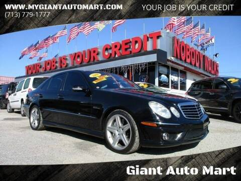 2008 Mercedes-Benz E-Class for sale at Giant Auto Mart 2 in Houston TX