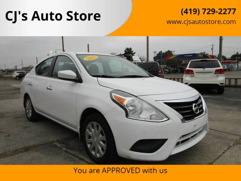 2015 Nissan Versa for sale at CJ's Auto Store in Toledo OH