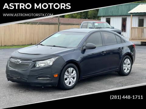 2014 Chevrolet Cruze for sale at ASTRO MOTORS in Houston TX