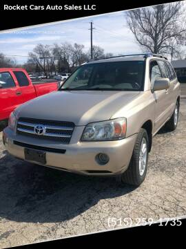 2006 Toyota Highlander Hybrid for sale at Rocket Cars Auto Sales LLC in Des Moines IA