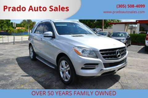2013 Mercedes-Benz M-Class for sale at Prado Auto Sales in Miami FL