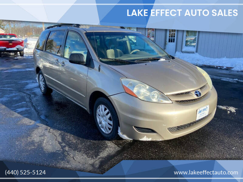 2006 Toyota Sienna for sale at Lake Effect Auto Sales in Chardon OH