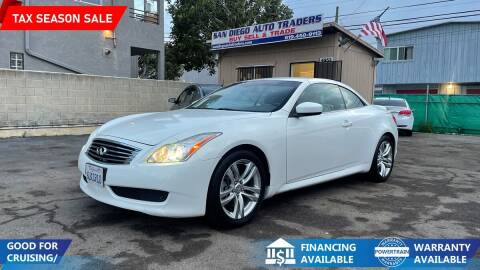 2009 Infiniti G37 Convertible for sale at San Diego Auto Traders in San Diego CA