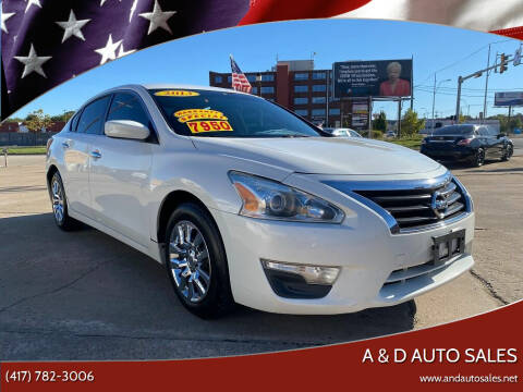 2013 Nissan Altima for sale at A & D Auto Sales in Joplin MO