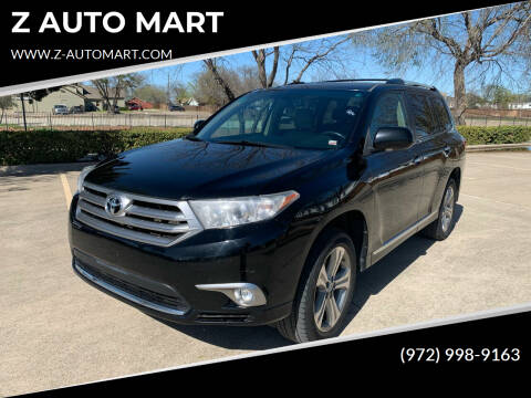 2012 Toyota Highlander for sale at Z AUTO MART in Lewisville TX