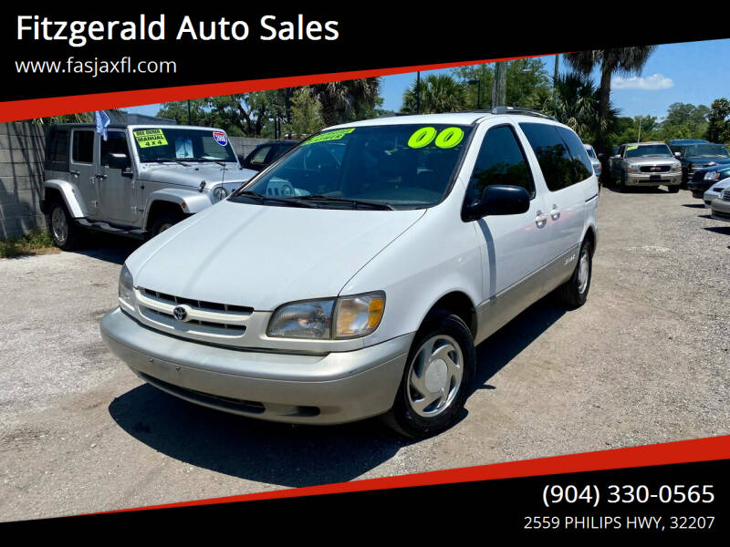 2000 Toyota Sienna for sale at Fitzgerald Auto Sales in Jacksonville FL