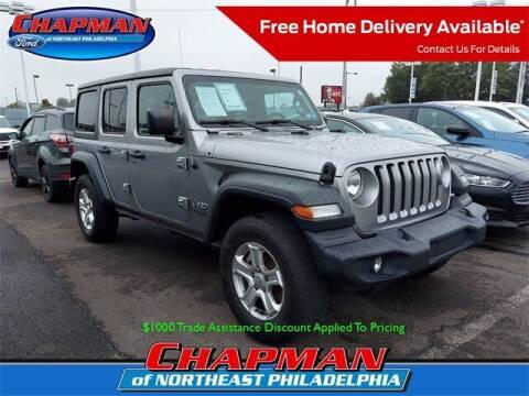2018 Jeep Wrangler Unlimited for sale at CHAPMAN FORD NORTHEAST PHILADELPHIA in Philadelphia PA