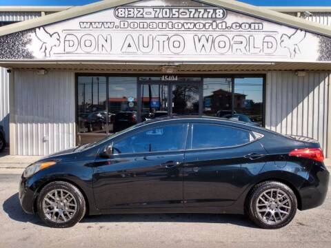 2013 Hyundai Elantra for sale at Don Auto World in Houston TX